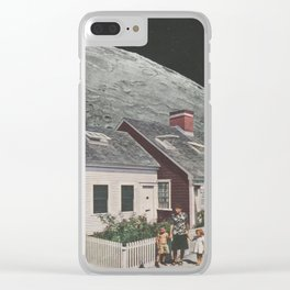 Living in the Moon's Shadow Clear iPhone Case