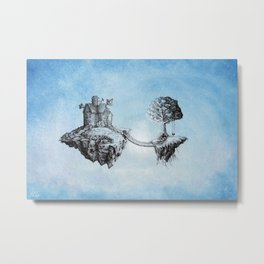 Dreaming of Stars - Illustration Metal Print