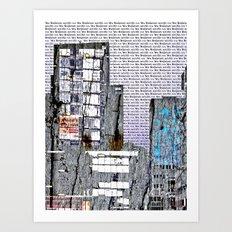 Cityscape six Art Print