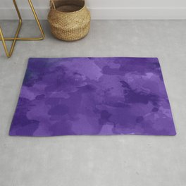 amethyst watercolor abstract Rug