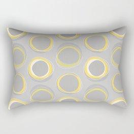 Solar Eclipse MCM Gray-Yellow Rectangular Pillow