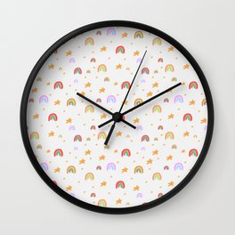 rainbows and stars Wall Clock