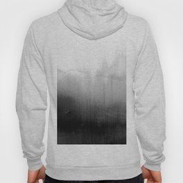 Modern Black and White Watercolor Gradient Hoody