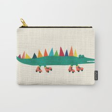 Crocodile on Roller Skates Carry-All Pouch