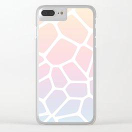 Rainbow Giraffe Clear iPhone Case
