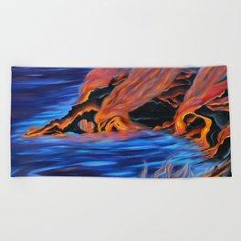 The Dance of Pele & Kanaloa Beach Towel