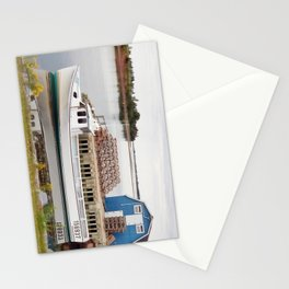 Lobster Boat and Traps Stationery Cards