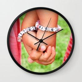 Big Sis & Lil Sis Holding Hands Wall Clock