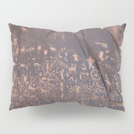 Newspaper Rock Pillow Sham