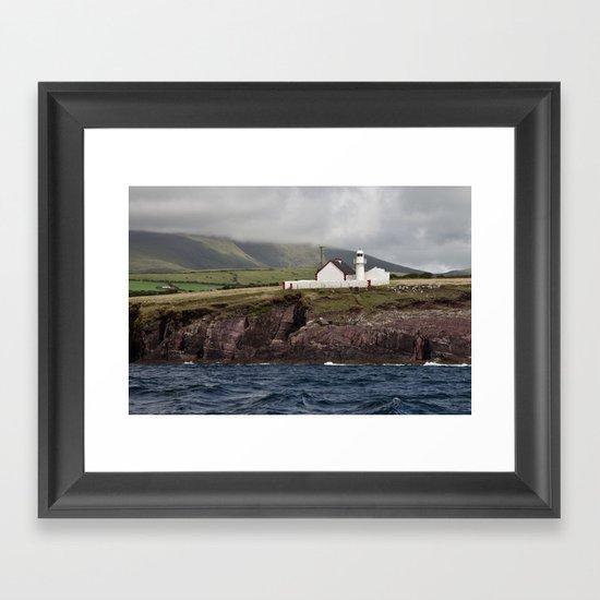 Lighthouse in the Dingle Bay Framed Art Print
