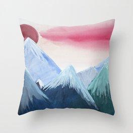 Mountainside Sunset Throw Pillow