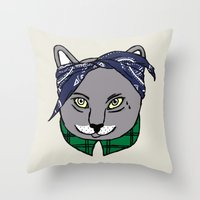 archer Throw Pillows featuring Archer by YEAH RAD STOKED