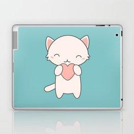 Kawaii Cute Cat With Hearts Laptop & iPad Skin