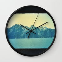 alaska Wall Clocks featuring Alaska by Taylor Palmer