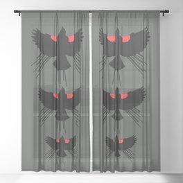 Seasons K Designs Red Winged Blackbird for Salty Raven Sheer Curtain
