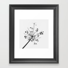 Simply lace Framed Art Print