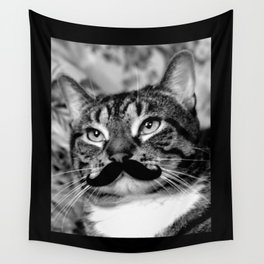 He's a Cat with a Mustache Wall Tapestry