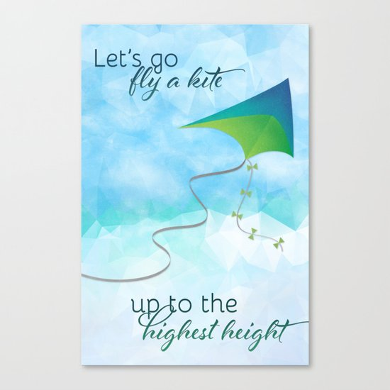 Let's Go Fly a Kite! Canvas Print