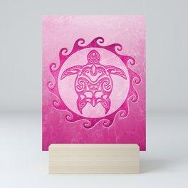 Pink Tribal Turtle Sun Mini Art Print