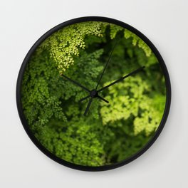 Lush Greens Wall Clock