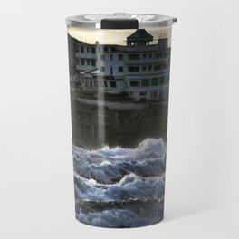 Stormy Burgh Island Hotel Travel Mug