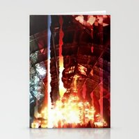 coachella Stationery Cards featuring Coachella '13 - Knife Party 04 by Ecstasy - Photography Project
