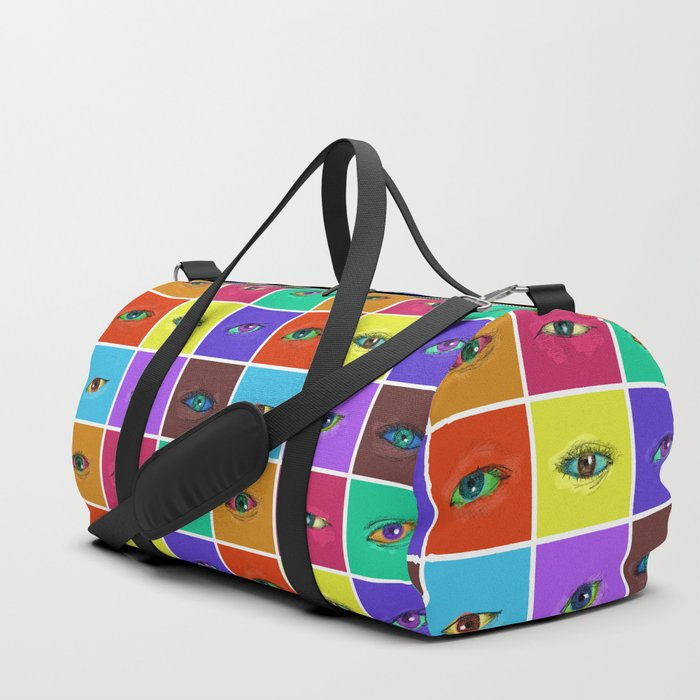 on the roads at night i saw the glitter of eyes Duffle Bag