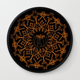 Mandala Project 240 | Fall Pumpkin Wall Clock