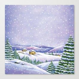 A purple winter's night Canvas Print