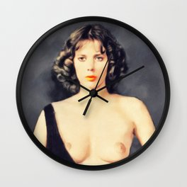 Sylvia Kritel, Vintag Actress Wall Clock