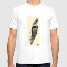 Portrait N&B sepia White Mens Fitted Tee MEDIUM