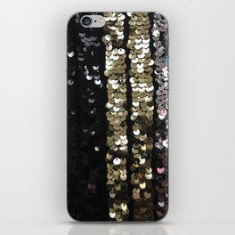 Sequins in Black, Gold and Silver iPhone Skin