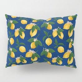 Lemony Fresh in Blue Pillow Sham