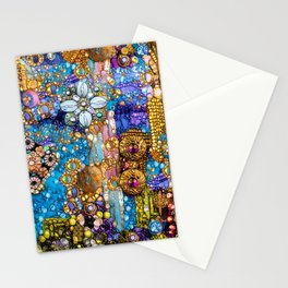 Gold, Glitter, Gems and Sparkles Stationery Cards
