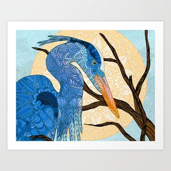 Egret Sun Art Print