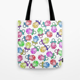 Retro 80's 90's Neon Colorful Ring Candy Pop Tote Bag