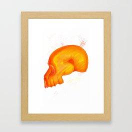 Red Skull Framed Art Print