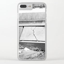 very old grave Clear iPhone Case