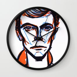 David Bowie Vibrant Orange Wall Clock