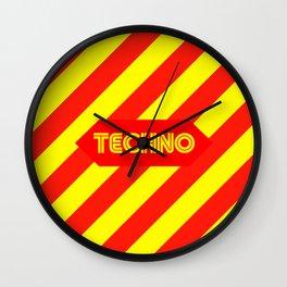 Techno music design for Techno lovers and TECHNO DJS Wall Clock