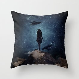 Deep dreams Throw Pillow