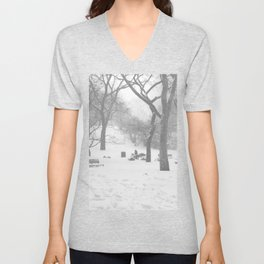winter wonderland Unisex V-Neck