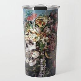 Flower skull Travel Mug
