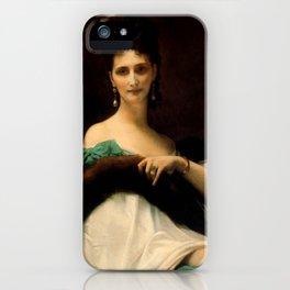"""Alexandre Cabanel """"La Comtesse De Keller (marquise de Saint Yves d'Alveydre)"""" iPhone Case"""