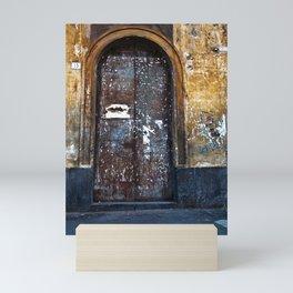Old Sicilian door of Catania Mini Art Print