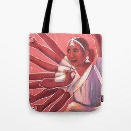 Colorful Bollywood Dancer Tote Bag