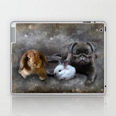 Rabbits and a Pug Laptop & iPad Skin