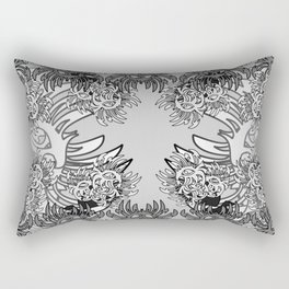 tattoo flower Rectangular Pillow