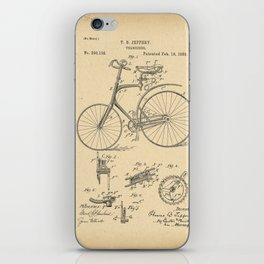 1889 Patent Bicycle Velocipede iPhone Skin