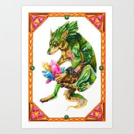 zelda wolf link Art Print